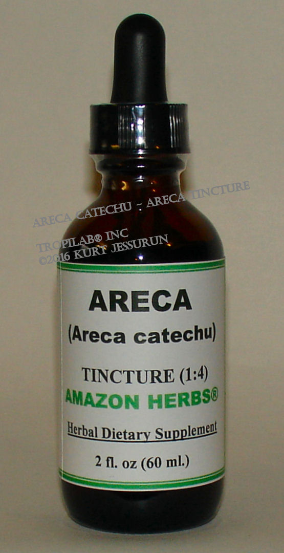 Areca catechu - Betelnut tincture only for US$18.65 per 2 fl oz.