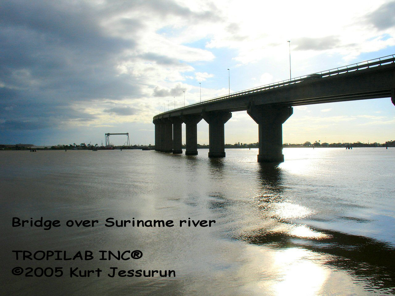 Bridge over the Suriname river